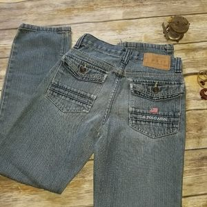 US Polo Assn Denim Jeans Flap Pocket Boys 14 Slim
